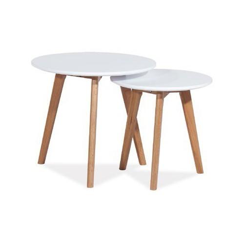zestaw białych stolików Milan S2