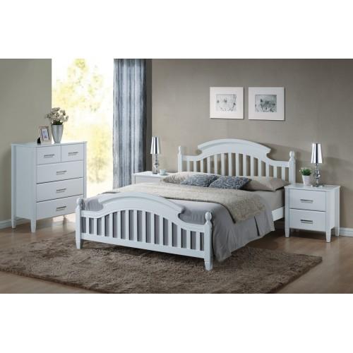 łóżko LIZBONA 160x200 białe